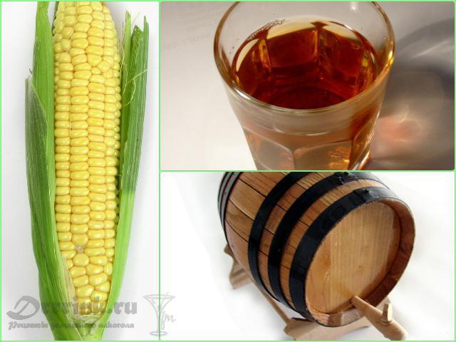 Самогон из кукурузы - основа домашнего бурбона